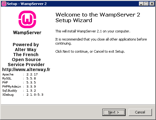 WampServer Installation Step 1