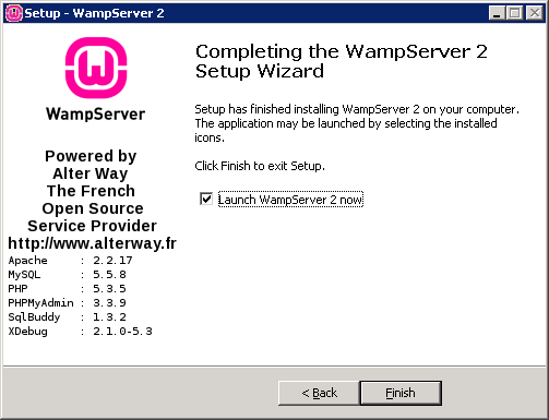 WampServer Installation Step 8